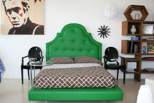 bright-emerald-green-upholstered-bedframe-and-headboard-color-of-the-month-for-march-2012-gorgeous-green-home-decor-and-design-ideas
