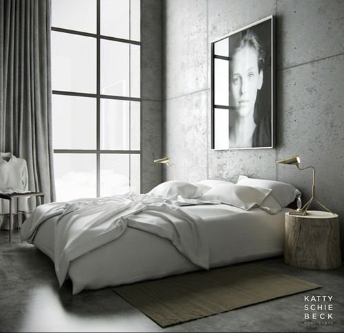 concret bedroom