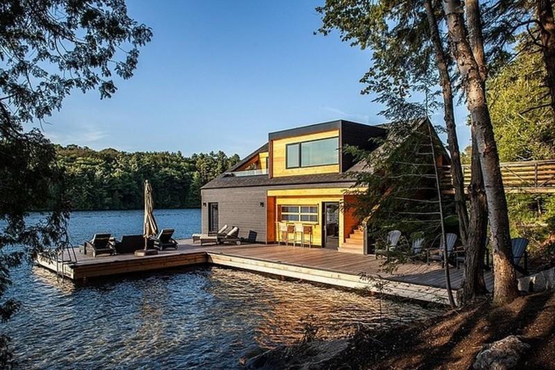 แบบบ้านลอยน้ำ