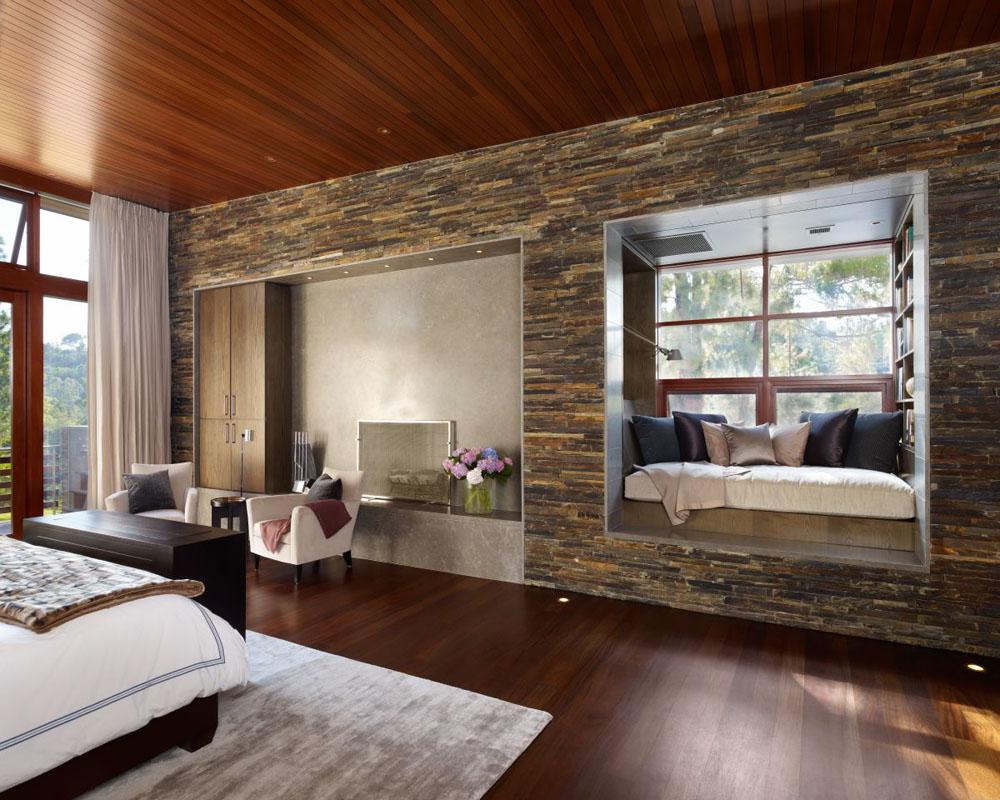 ห้องนอนยังตกแต่งด้วย wallpaper หลายหินธรรมชาติ