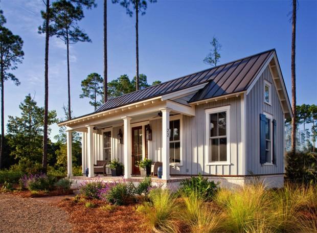 แบบบ้านหลังเล็กๆมีระเบียงหน้าบ้าน