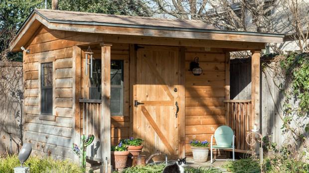 แบบบ้านกระท่อมไม้ชั้นเดียว