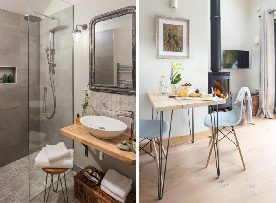 ห้องน้ำและโต๊ะรับประทานอาหาร