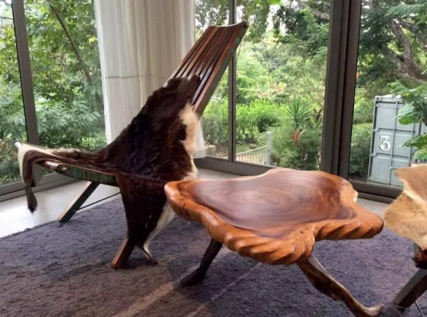 โต๊ะกาแฟทำจากไม้