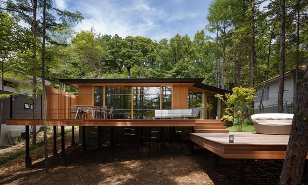แบบบ้านไม้สไตล์รีสอร์ท ระเบียงกว้างขวาง บ้าน แบบบ้านและการตกแต่งบ้าน