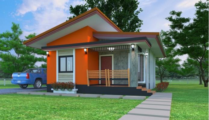 แปลนบ้านชั้นเดียว ออกแบบสวยสไตล์โมเดิร์น บ้าน แบบบ้านและการตกแต่งบ้าน