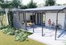 แบบบ้านสวนปูนเปลือยรูปตัวแอล ออกแบบสวยราคาเริ่มต้น 100,000 บาท